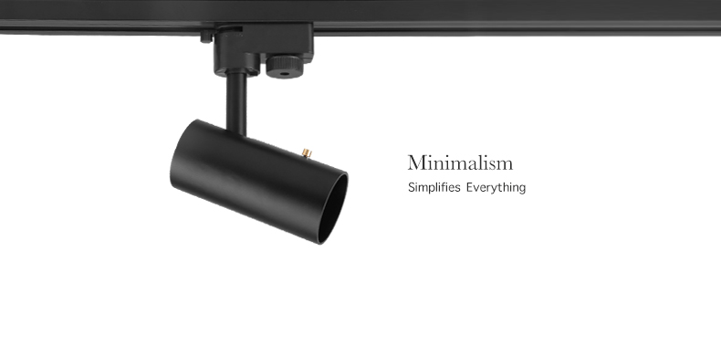 multi beam angle led track spot light with simple appearance