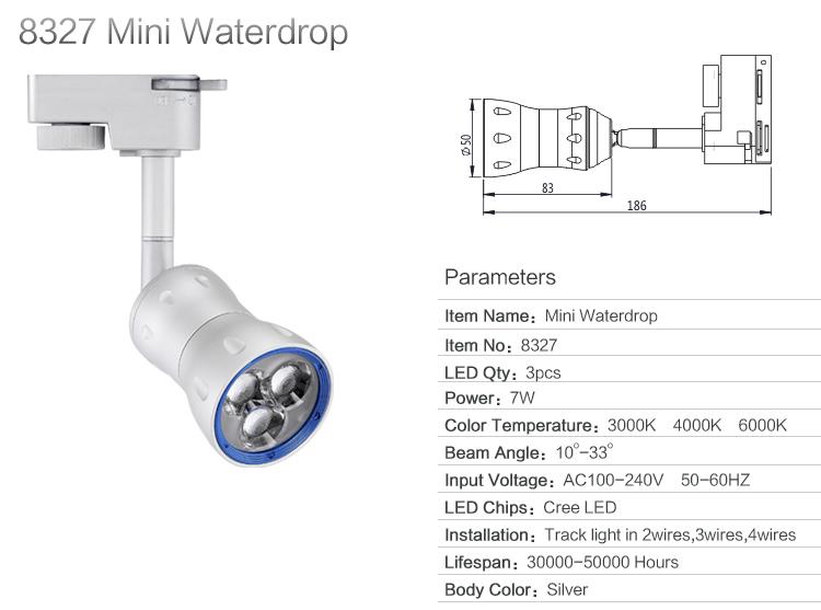 online retailer c744e 6b2d9 8327 6w mini beam angle led track spotlight for art gallery lighting systems
