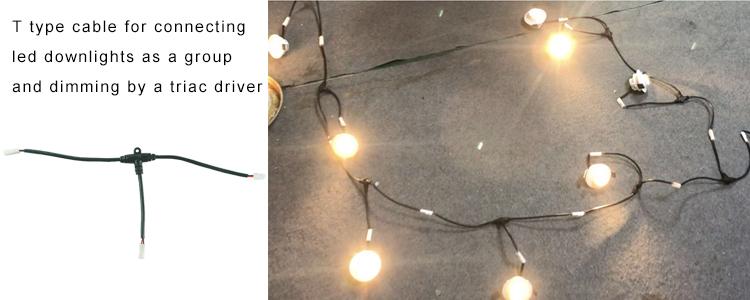 T tipo kabelis žemųjų šviestuvų prijungimui