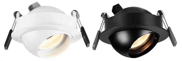 led downlight black white